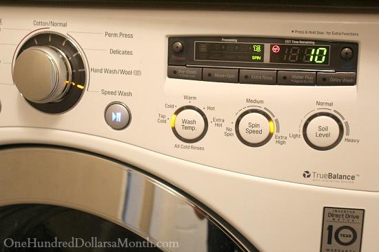 washing machine cold cycyle