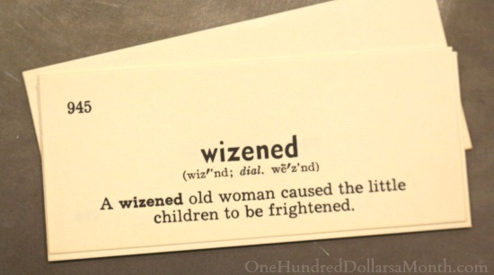 wizened