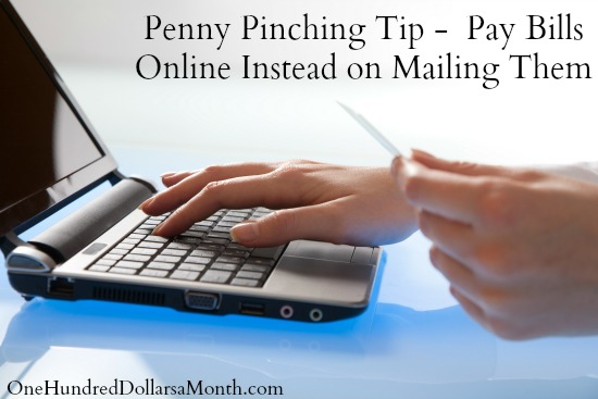 Penny Pinching Tip -  Pay Bills Online Instead on Mailing Them