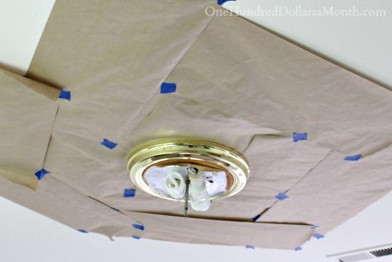 Spray Paint Brass Light Fixtures