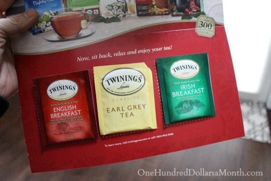 free twinings tea samples