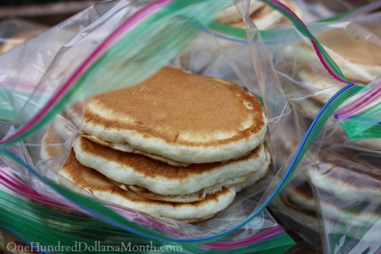 freezing pancakes