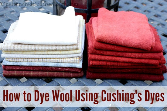 how to to dye wool using cushing dyes