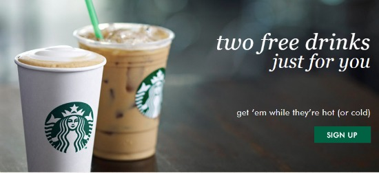 starbucks free drinks
