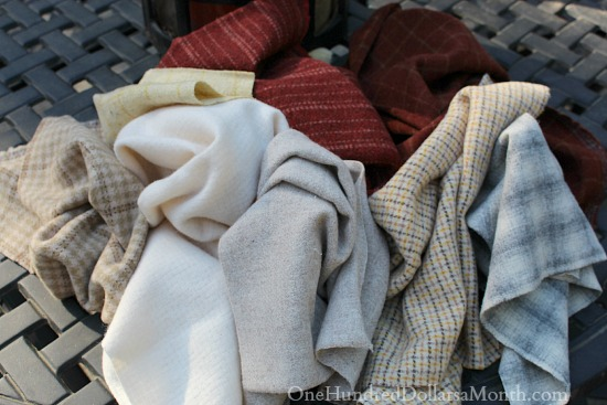 wool fabric for rug hooking
