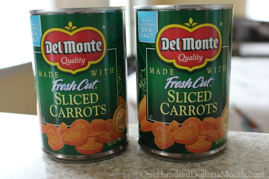 del monte canned carrots