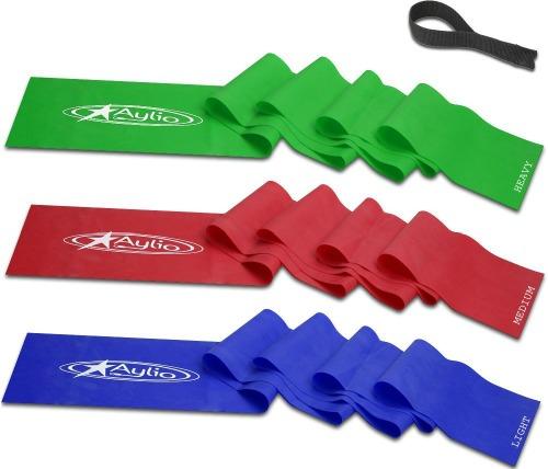 Aylio 3 Flat Stretch Bands Exercise Set