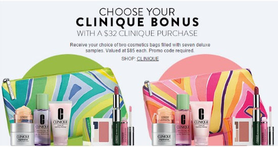 clinique free bag
