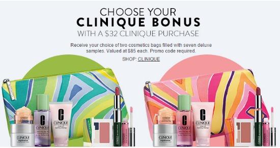 clinique free bag