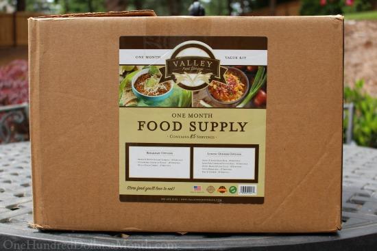 valley food storage one month food supply