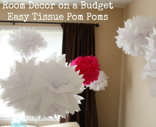 Room Decor on a Budget Easy Tissue Pom Poms