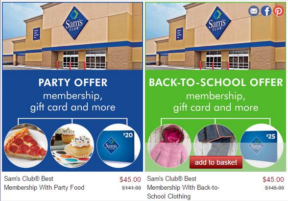 sams clumb membership discount