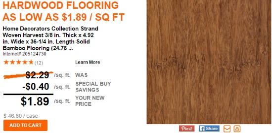 the home depot hardwood flooring