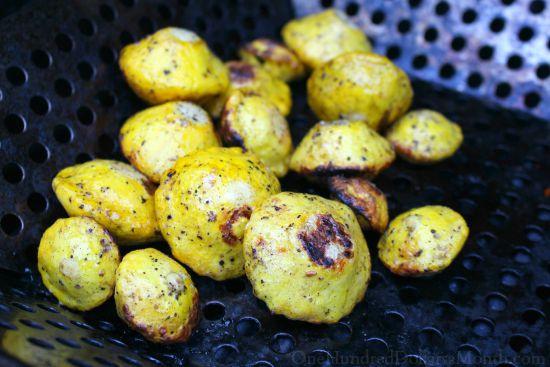 grilled patty pan squash
