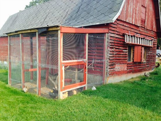 red barn chicken coop ideas
