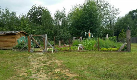 rustic garden set up