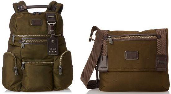 brown olive tumi bags