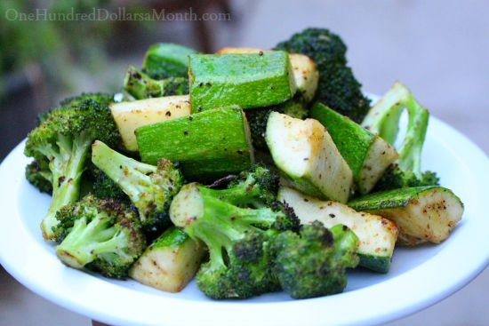 grilled zucchini and broccoli