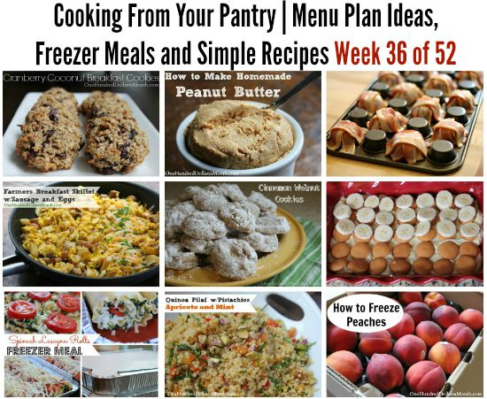 Cooking From Your Pantry Menu Plan Ideas Freezer Meals And Simple