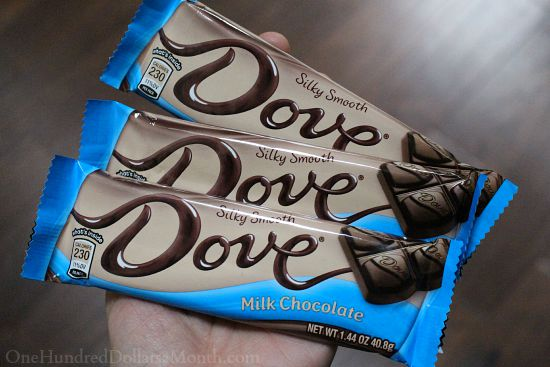 dove chocolate bars