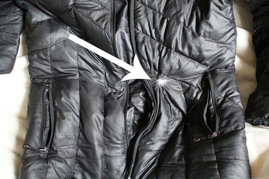 hole in coat