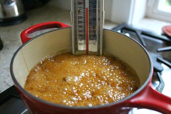 making carmel corn