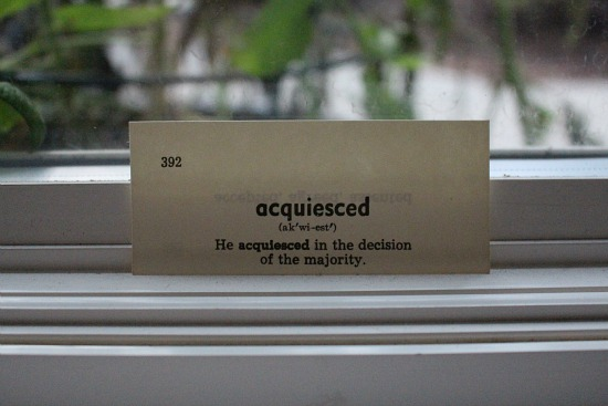acquiesced