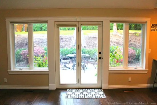 patio door and windows