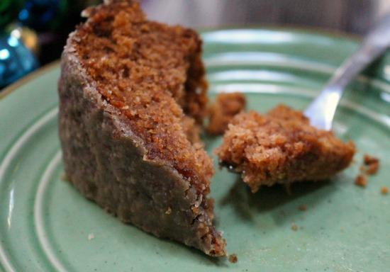 Spiced Applesauce Cake w Caramel Glaze