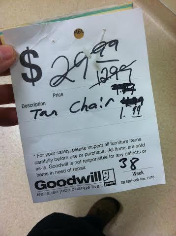 goodwill tag