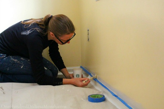 painting baseboards