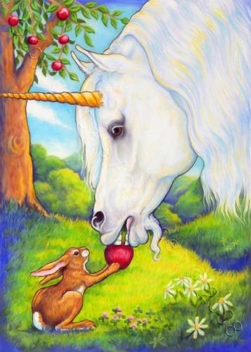 unicorn and rabbit
