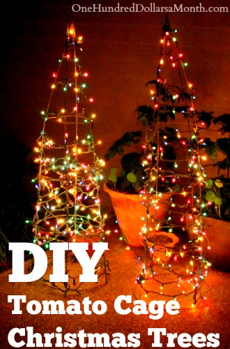 Tomato Cage Christmas Tree.Diy Tomato Cage Christmas Trees One Hundred Dollars A Month