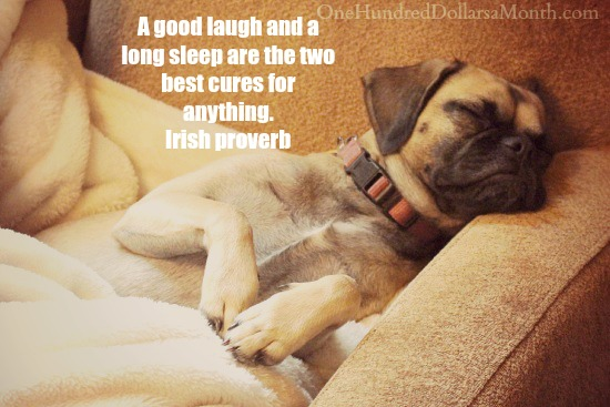 Quotes - a good laugh and a long sleep