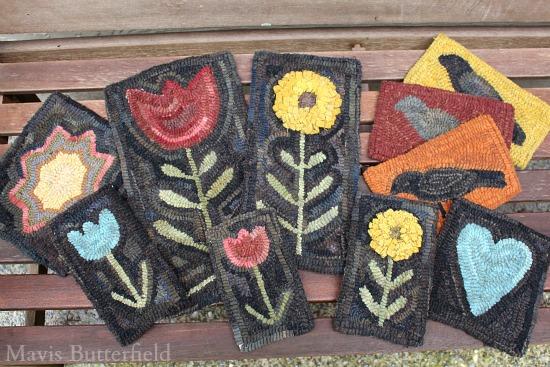 primitive hooked rugs mavis butterfield