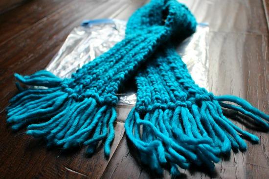 teal scarf
