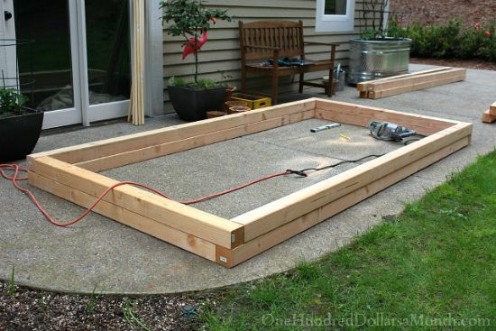 How to Build Raised Garden Beds for Growing Vegetables One Hundred