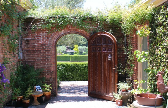 Filoli Mansion brick garden gate