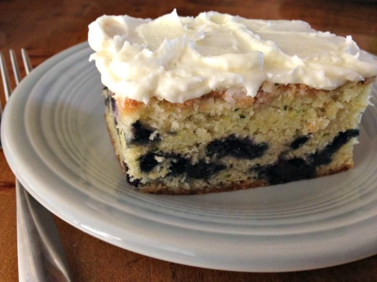 zucchini blueberry cake