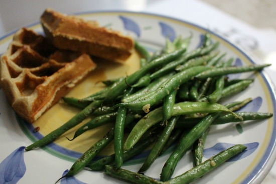 green beans and waffles
