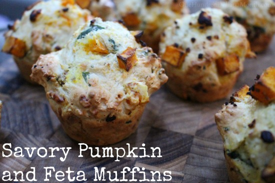 Savory Pumpkin and Feta Muffins - One Hundred Dollars a Month
