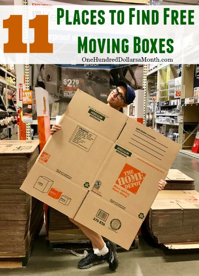 11 Places to Find Free Moving Boxes One Hundred Dollars a Month