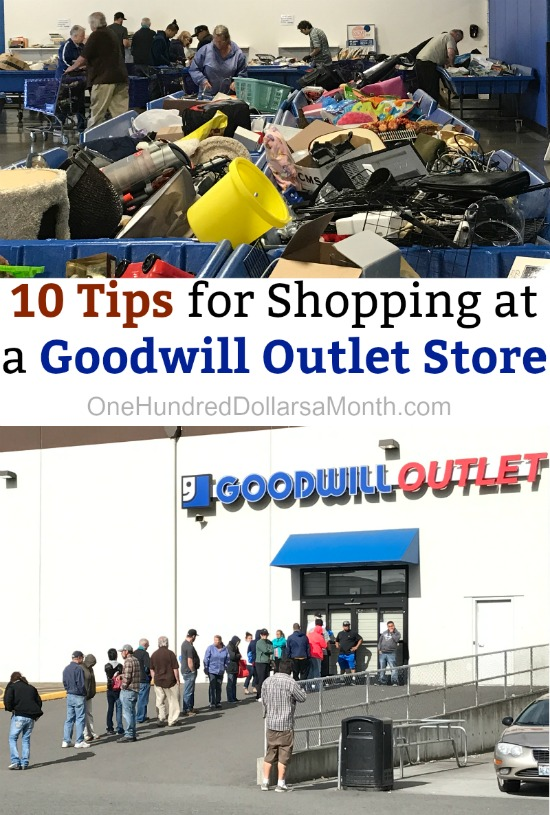 10 Tips for Shopping at a Goodwill Outlet Store - One
