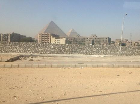 Enroute to the Giza Pyramids