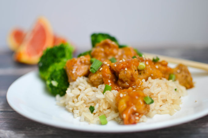 Crispy Baked Orange Glazed Tofu