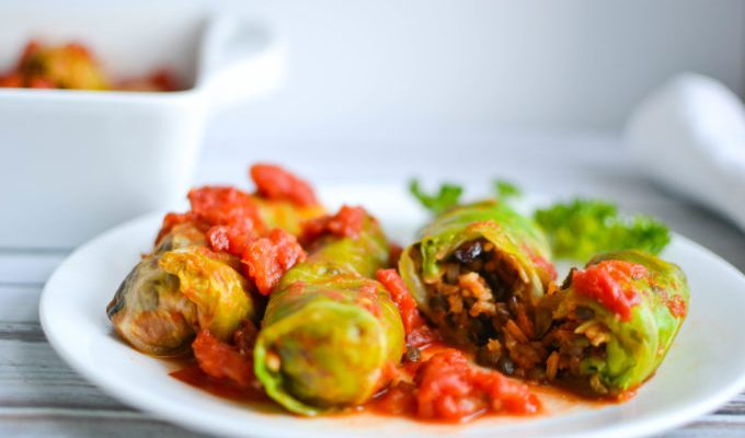 Vegetarian Stuffed Cabbage Rolls
