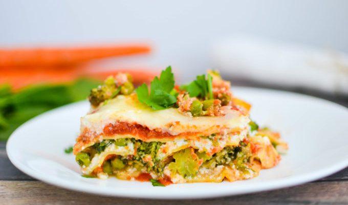 Healthy Spring Vegetable Lasagna