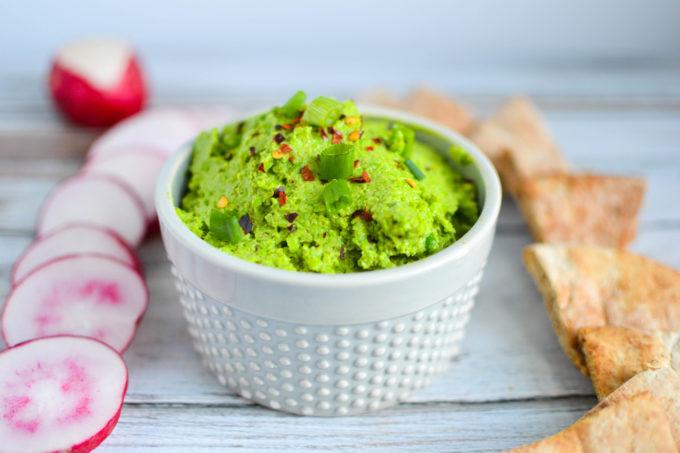 Creamy Spring Pea Guacamole