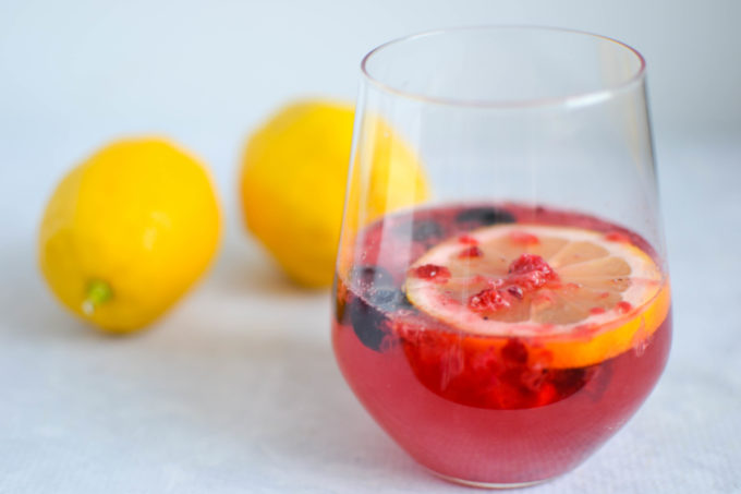 Healthy Berry Lavender Lemonade