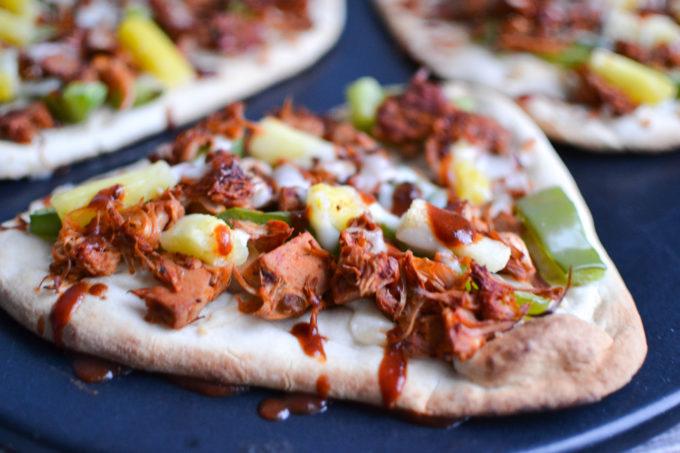 Tasty BBQ Jackfruit Naan Pizzas